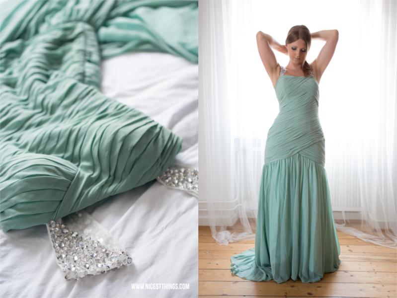 Meerjungfrau Kleid jadegrün Mermaid Dress Meerjungfrauenkleid Hochzeit Abiball Prom Ballkleid