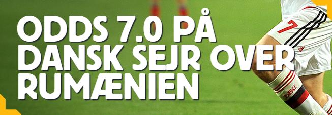 Få høje odds på Betfair til landskampen mellem Danmark og Rumænien!