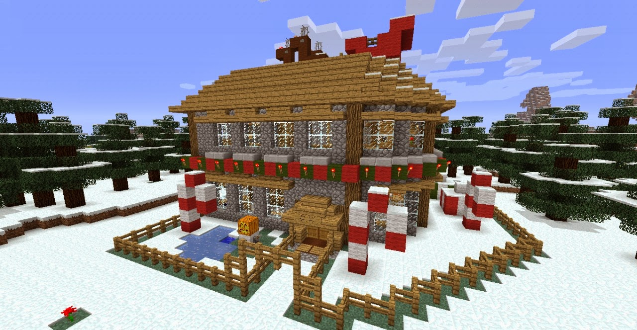 cool minecraft christmas build