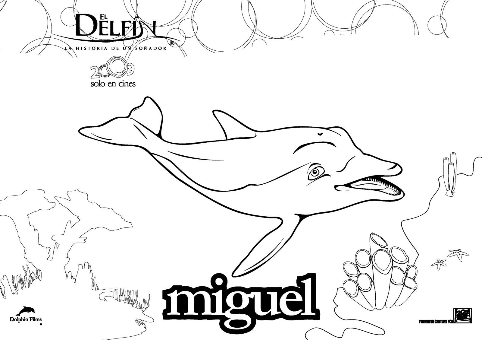 Hermosa Invierno El Delfín Para Colorear Embellecimiento - Enmarcado ...