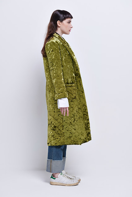 front row shop velvet coat