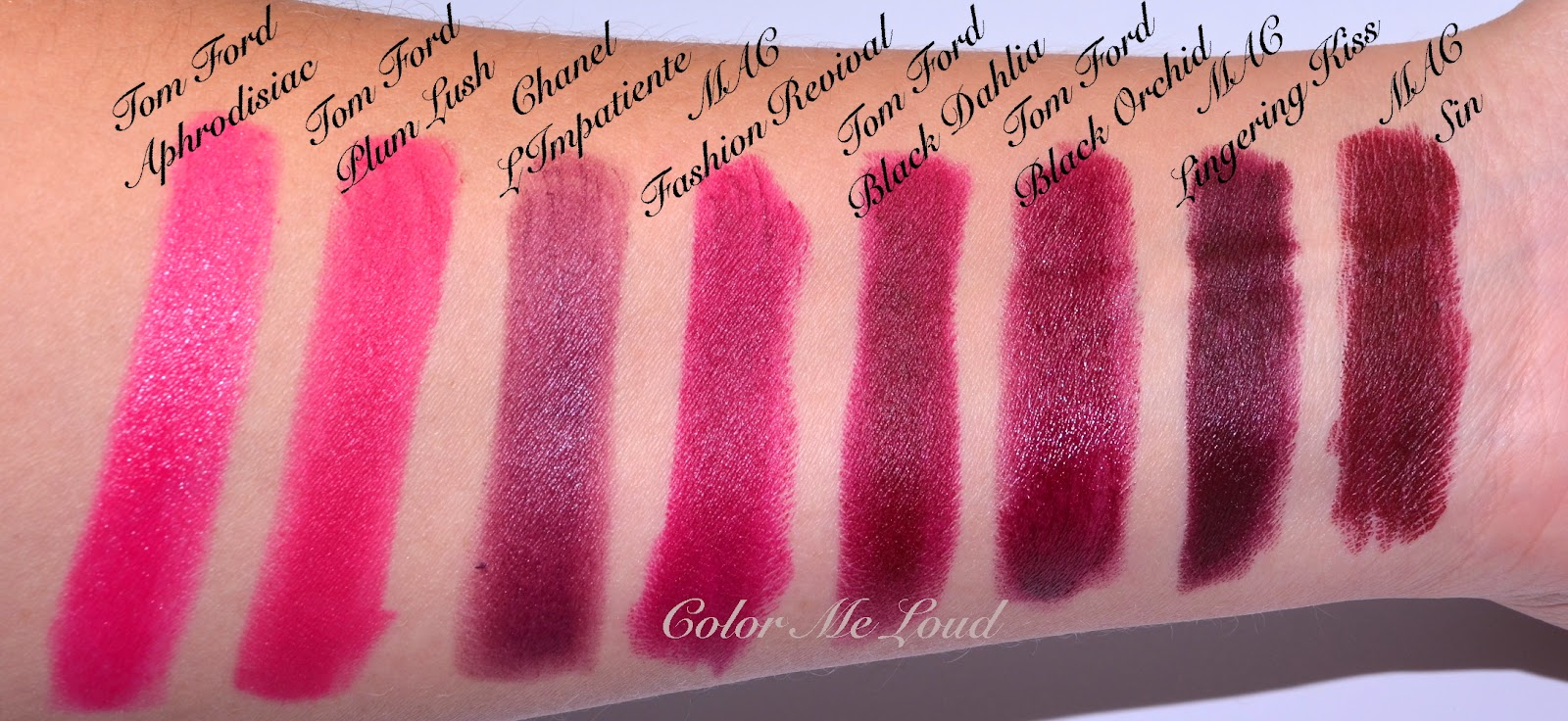 comparison swatches for tom ford lip color matte 05 plum lush and 10. Cars Review. Best American Auto & Cars Review