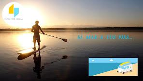 Practica 'SUP', 'Paddle',.. en Ciutadella, Menorca. 2015