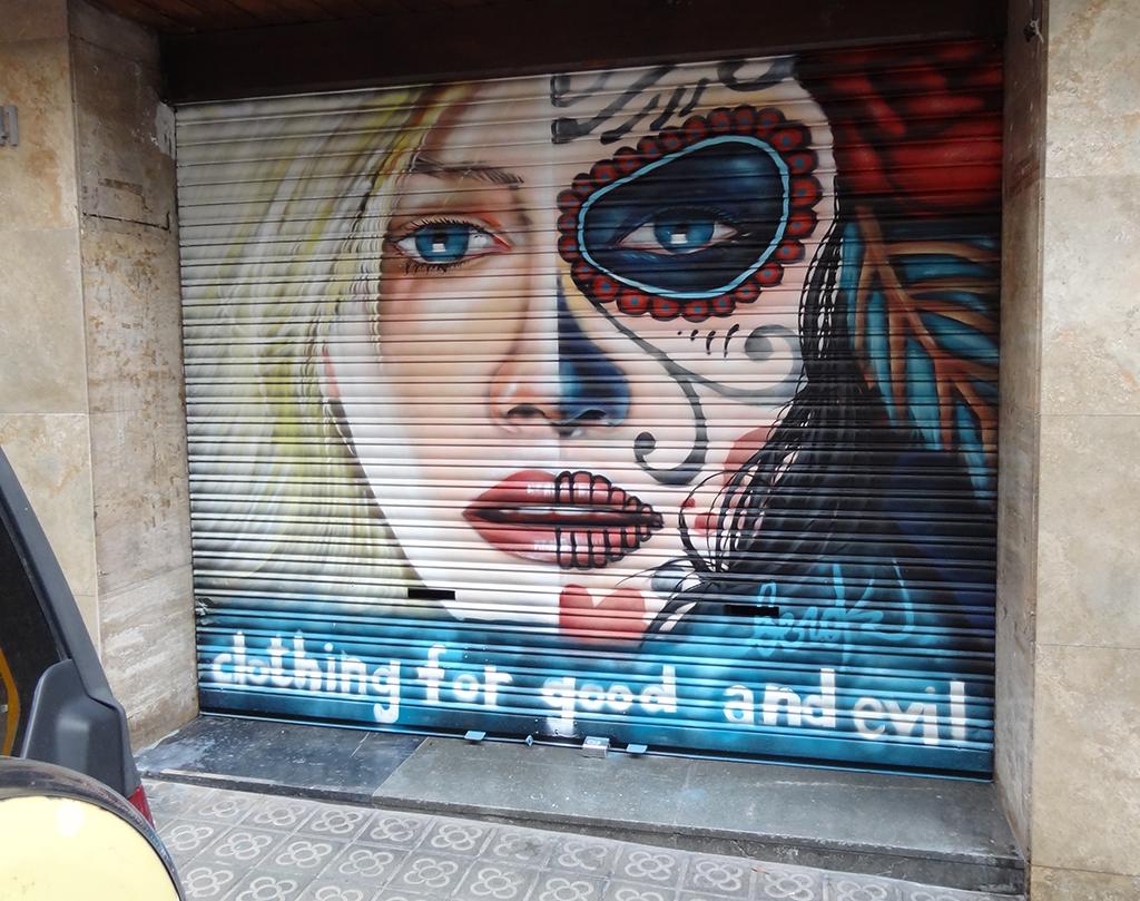 catrina graffiti de catrina para persiana en barcelona la idea de