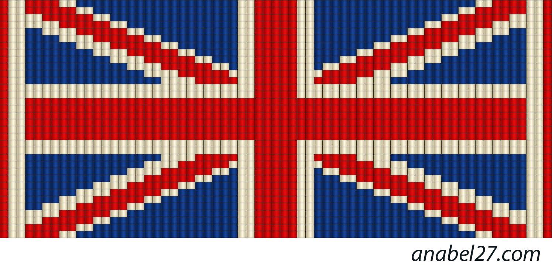 Английский флаг вышивка 66