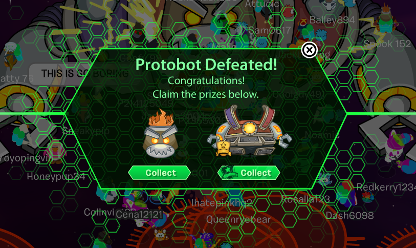 Club Penguin Future Party Ultimate Protobot Prizes