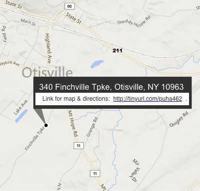 map: Town of Mount Hope Park 340 Finchville Turnpike, Otisville, NY 10963