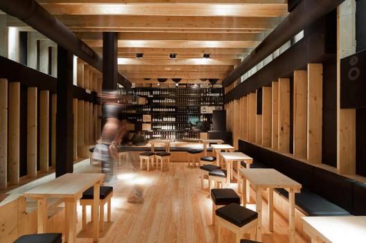 Arquited projeto de decora o de bares for Bar madera moderno