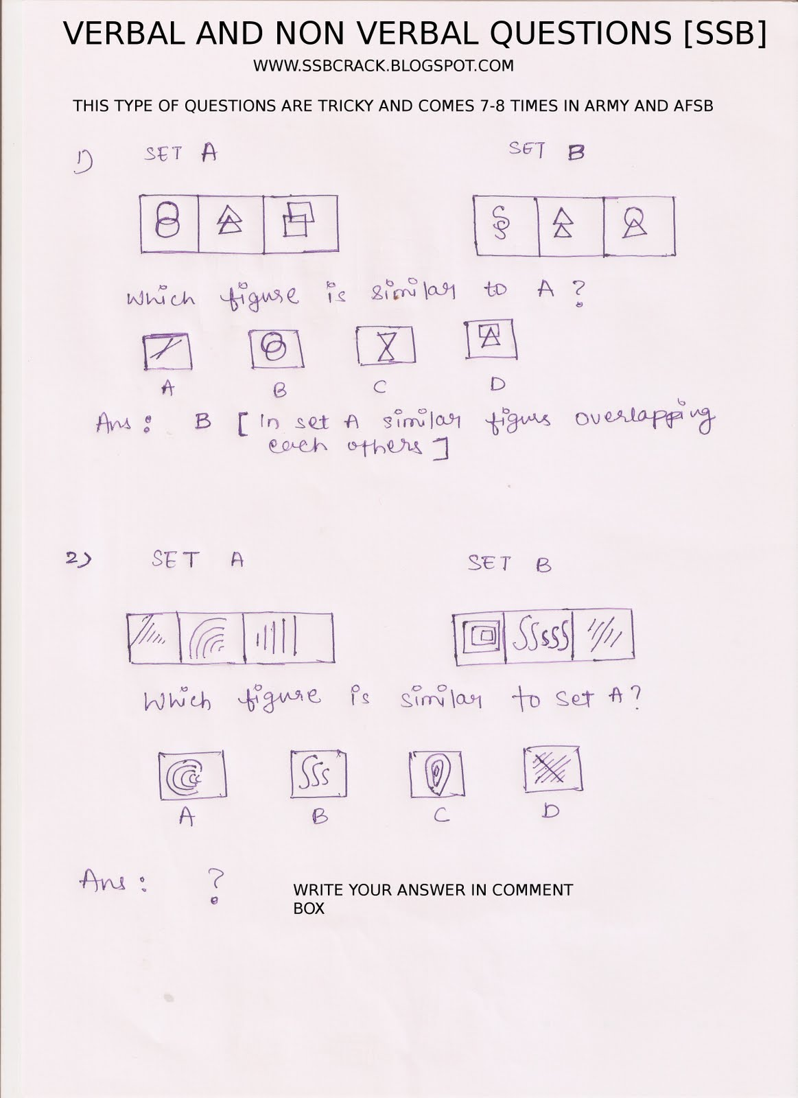 cube and dice question in oir test ssb similar figure questions