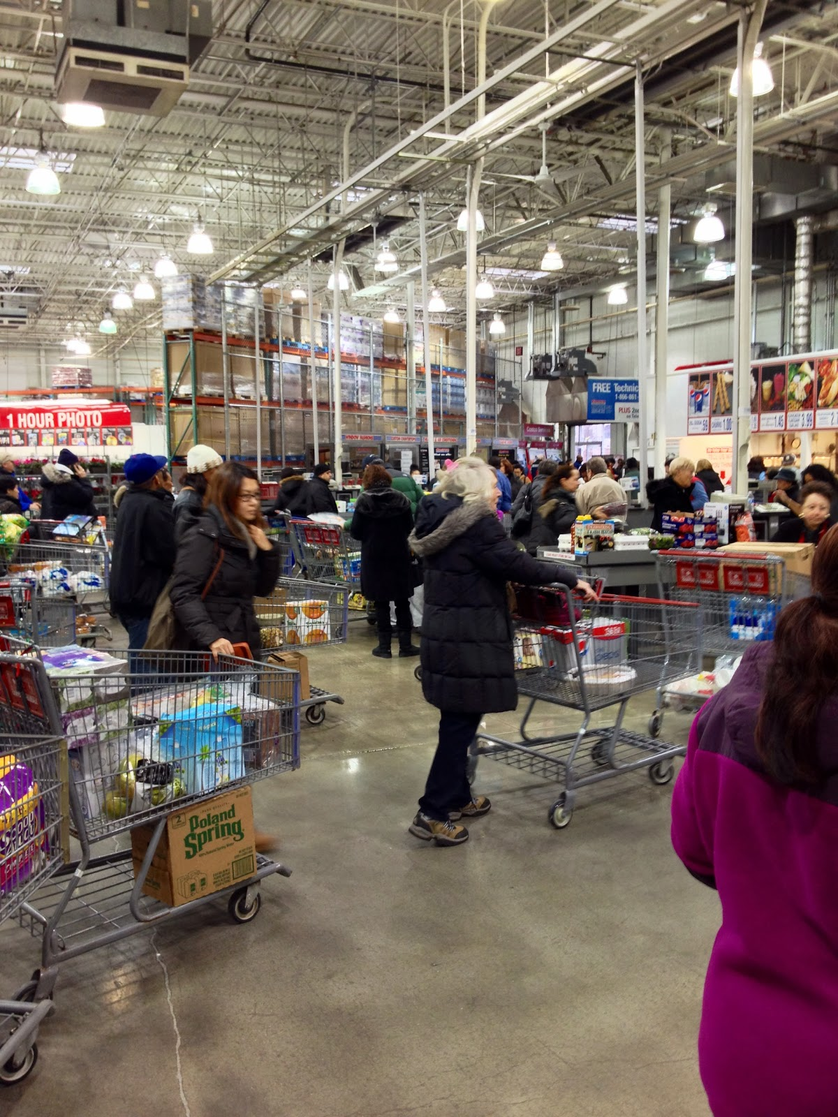 do you really know what you re eating advancing storm panics less than 30 minutes after the 10 a m opening today checkout lines were long and getting longer at the costco whole in hackensack above and below