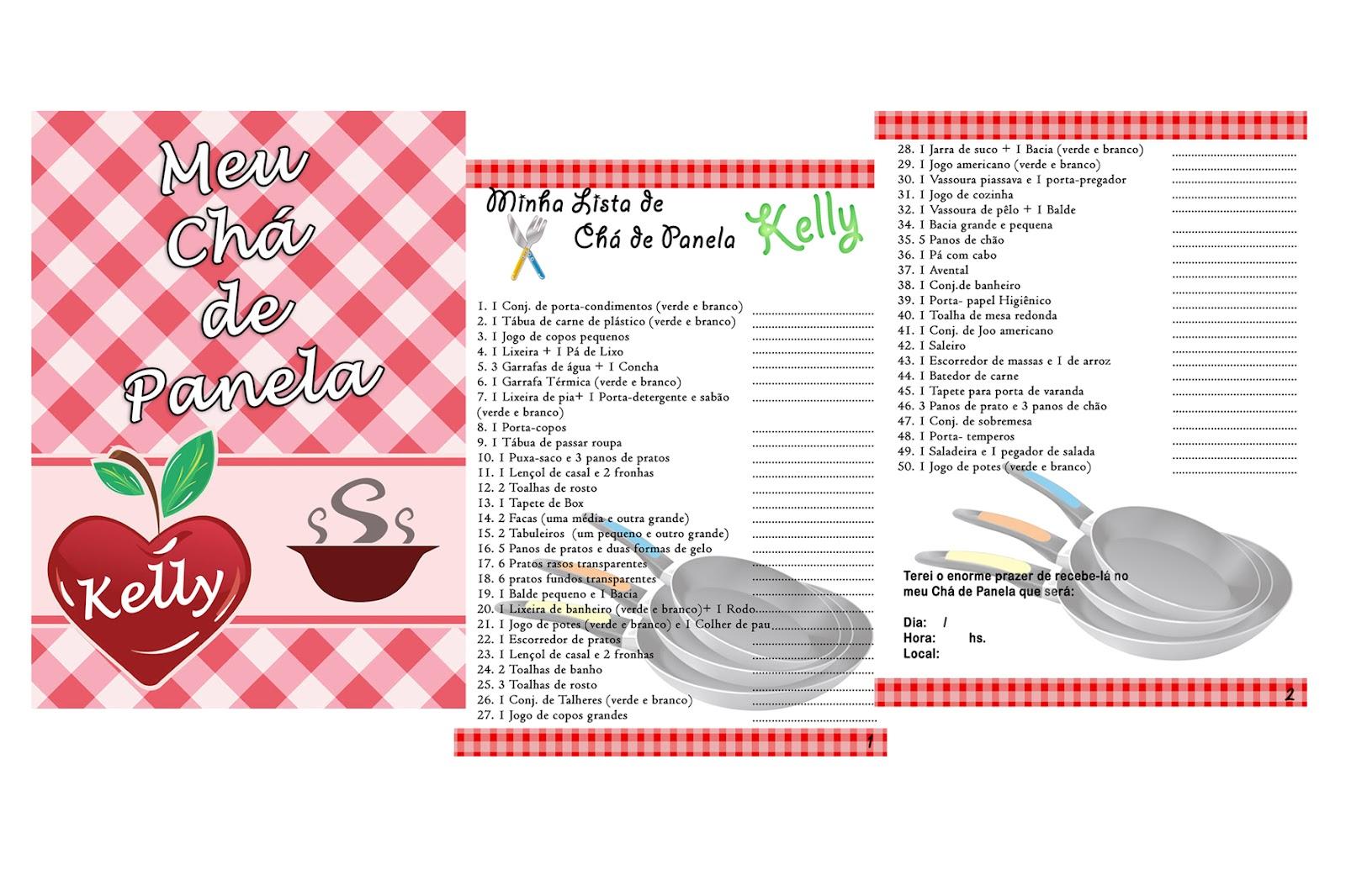 Lista De Presentes Para Cha Cozinha Oppenau Info