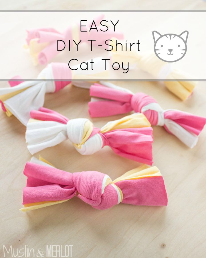 Diy t shirt cat toy so easy muslin and merlot for Diy kitty