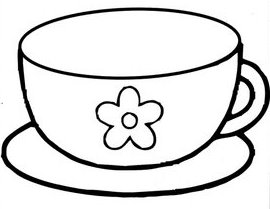 Dibujos infantiles dibujo infantil taza for Imagenes de taza de bano para colorear