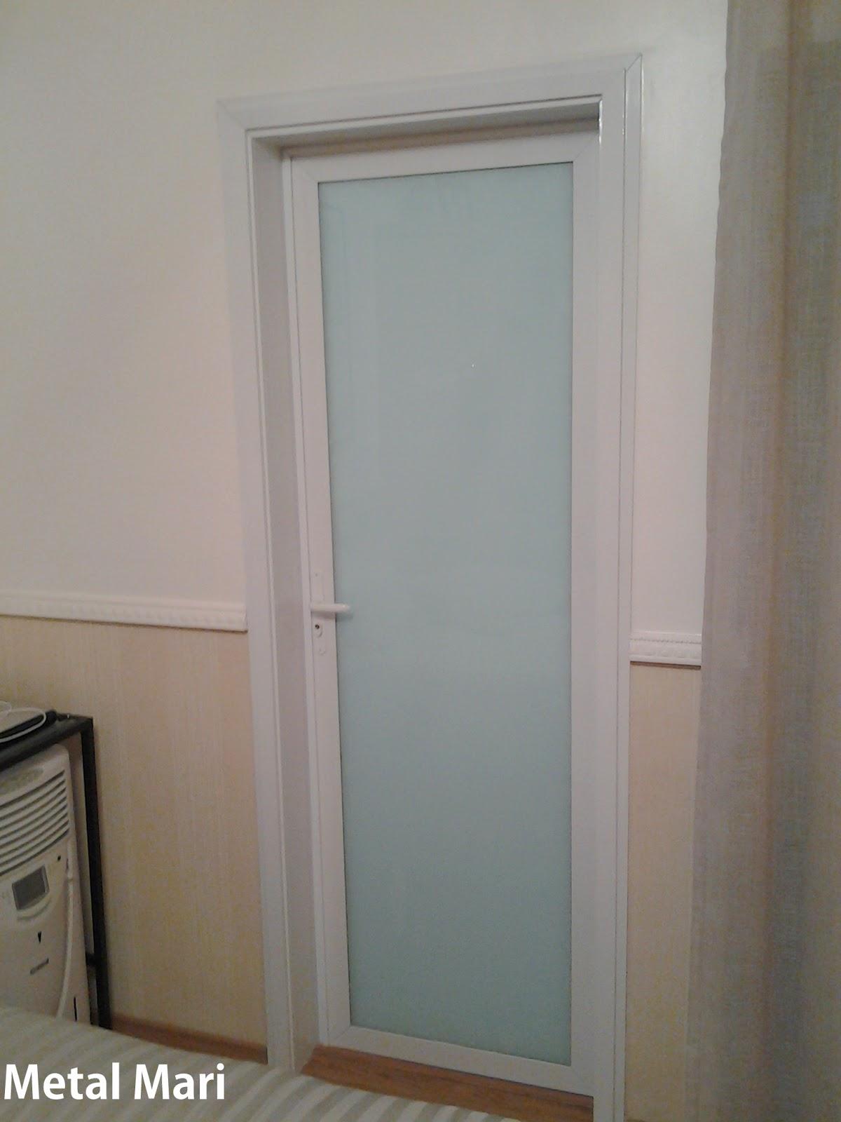 #5B493A Porta de alumínio branco com vidro de 8 mm temperado incolor 1054 Portas E Janelas De Aluminio E Vidro
