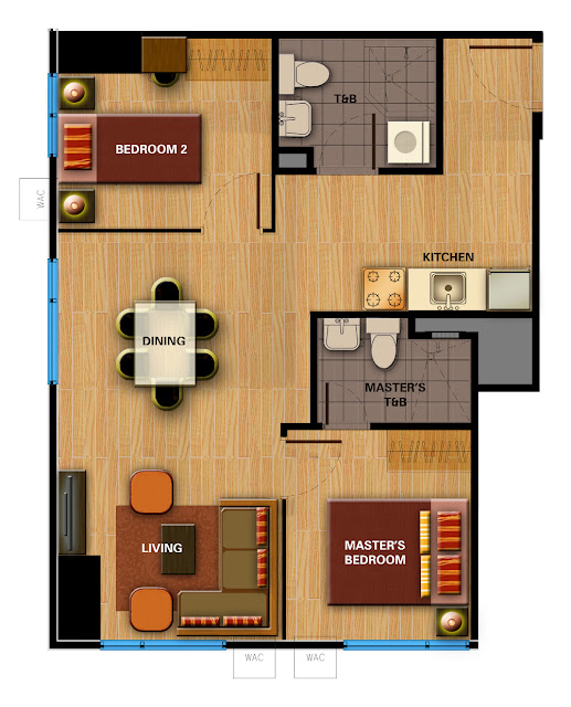 Avida Towers Davao 2-Bedroom Unit