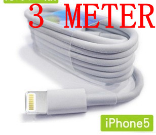 3M/10FT 8Pin USB Data Charger Cable for iPhone 5 iPod Touch 5th Nano 7th New