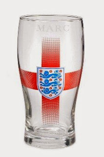 Personalised England Crest Glass
