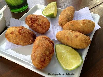 Platô Bar e Restaurante: Bolinhos (Bacalhau e Charque com Aipim)