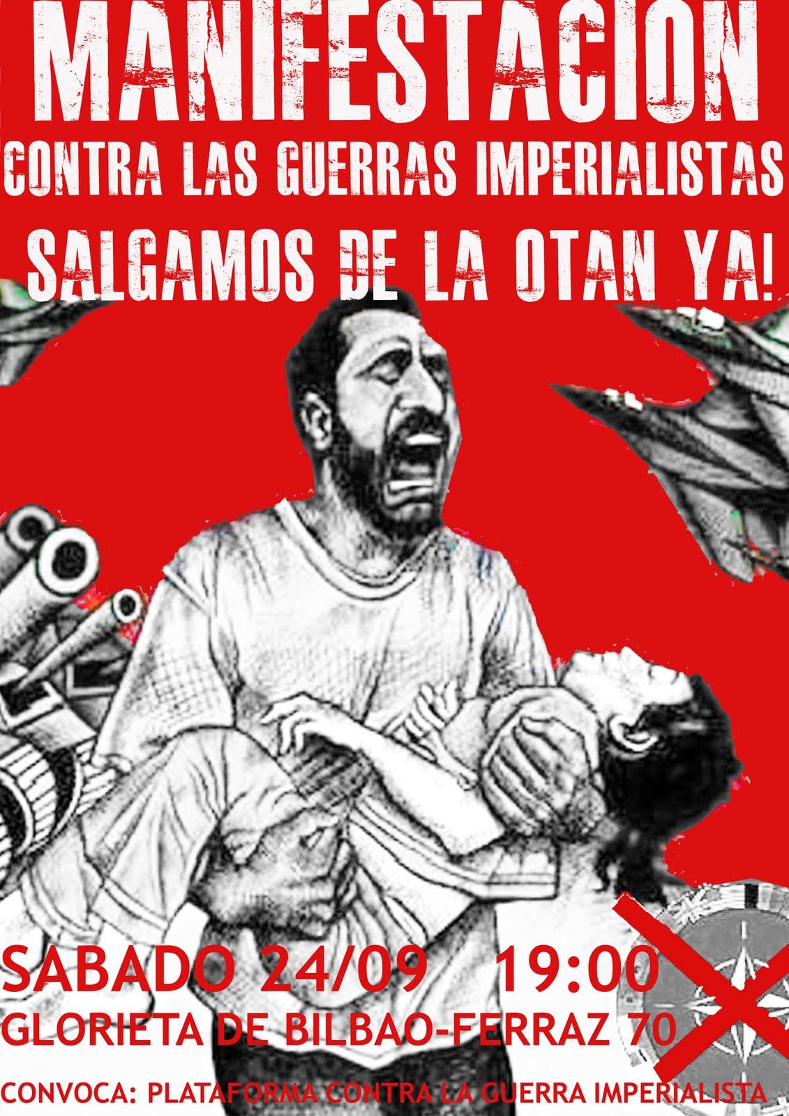 [Convocatoria-24.Sept] Manifestación, Bilbao. Frente a la barbarie imperialista: disolución de la OTAN!