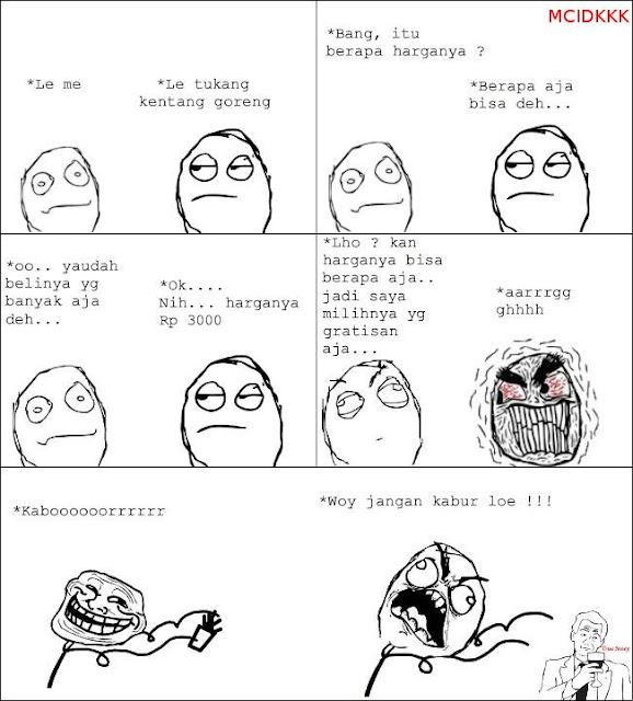 Troll Kentang Goreng Meme Comic