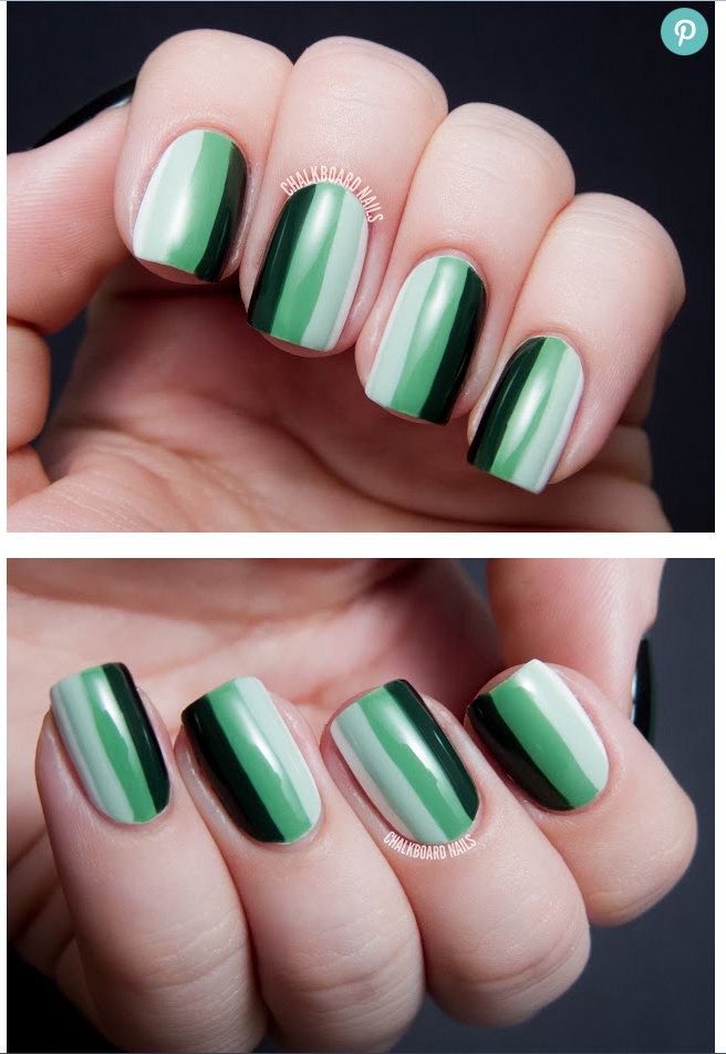 Zoya Nail Polish Blog: Going Green With Ombre Striped Nail ...