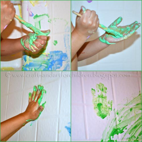 Bath tub painting activity