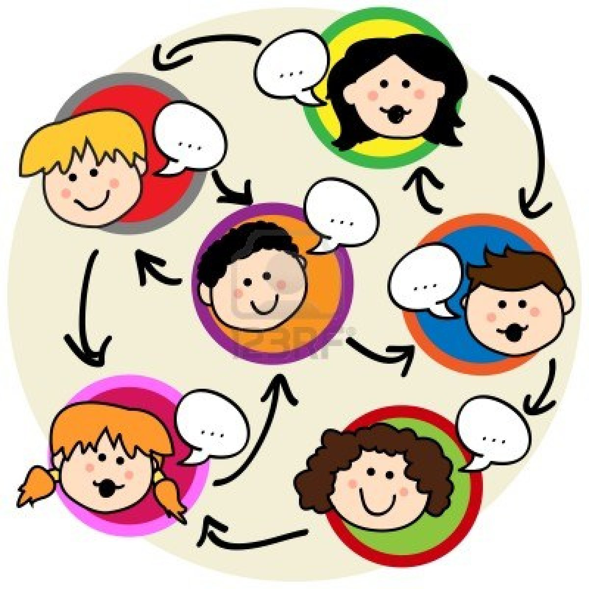 12064224 social network concept fun cartoon of kids talking and being interconnectedg communication is an act or instance of transmitting or exchanging messages and information between individuals through a common system of symbols signs or biocorpaavc Gallery