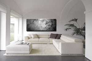 "Abstract Painting ""Pure Silver"" by Dora Woodrum"
