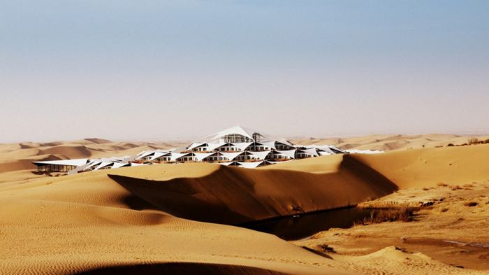 Lotus Hotel Hidden in Sounding Sand Desert