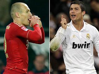 Robben y Cristiano desilusionaron en Alemania