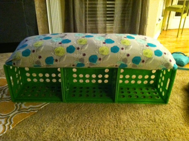 DIY Milk Crate Storage Bench