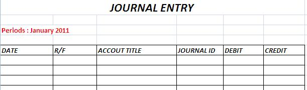 Create The Journal and Journal Entry with Excel (Part 1) ~ Excel ...