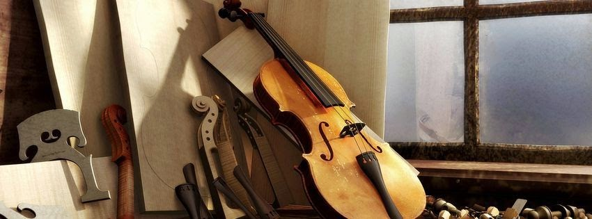 Une photo de couverture facebook violon