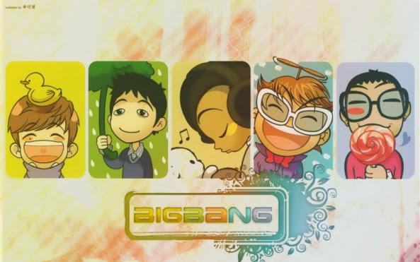 Bộ ảnh Chibi Big Bang siêu đẹp siêu cute