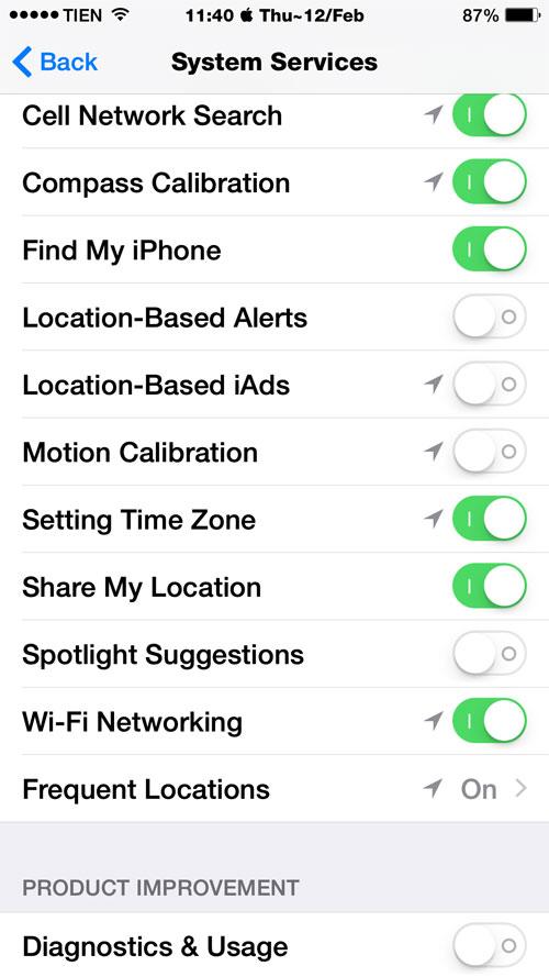 Thiết lập trong iOS 8 để tiết kiệm pin iPhone 5