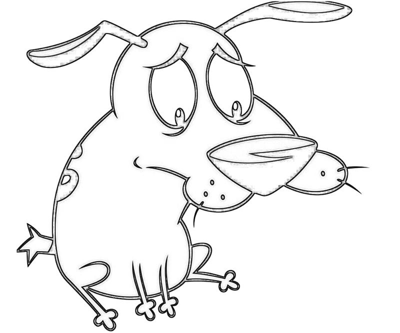 courage-dog-hungry-coloring-pages