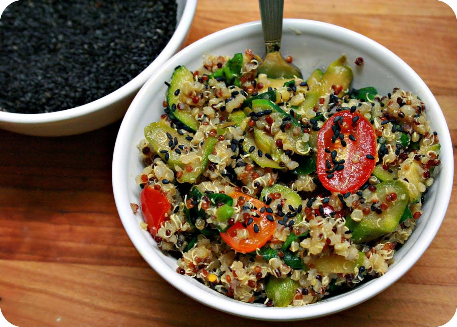 Grubarazzi: Sesame Quinoa Salad with Stir Fried Vegetables
