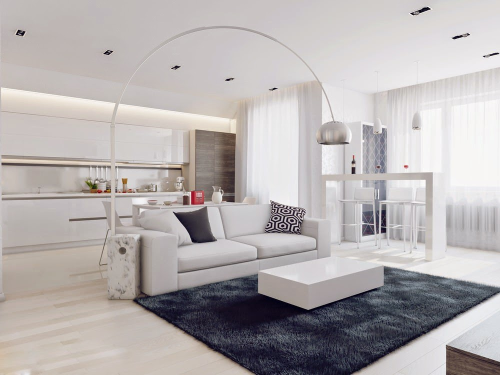 Un angolo di design total white o no for Casa moderna total white