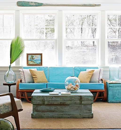 Find your coastal coffee table style completely coastal for Beach style living room furniture