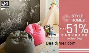 Bean-bags-extra-51-cashback-paytm