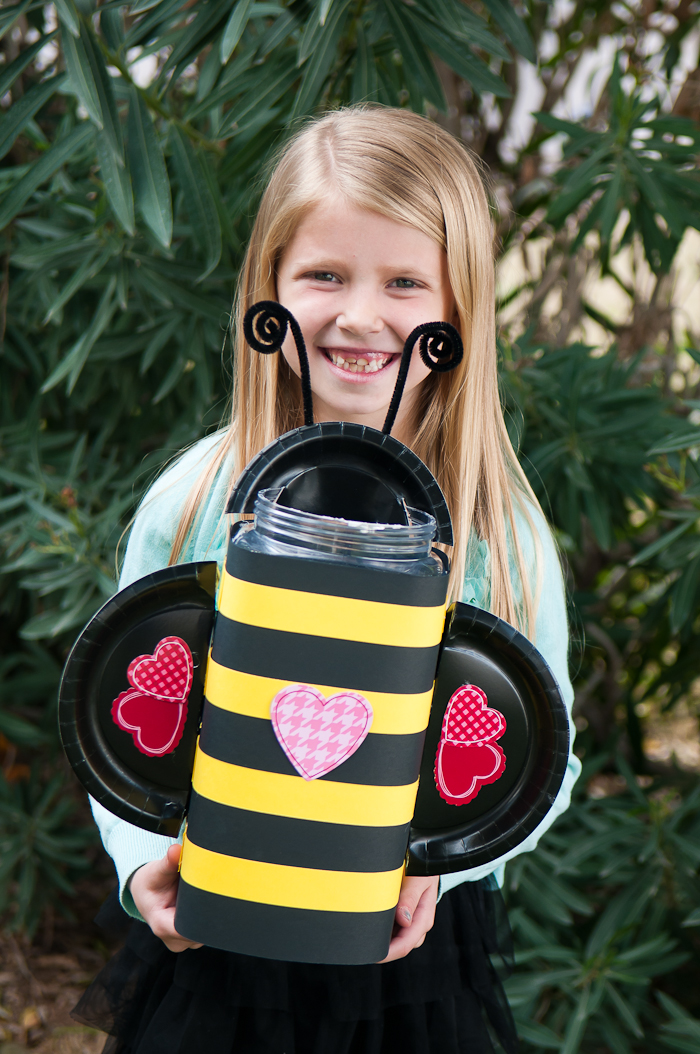 Life with Fingerprints: Cheap and easy Valentine's day box, Bumble Bee