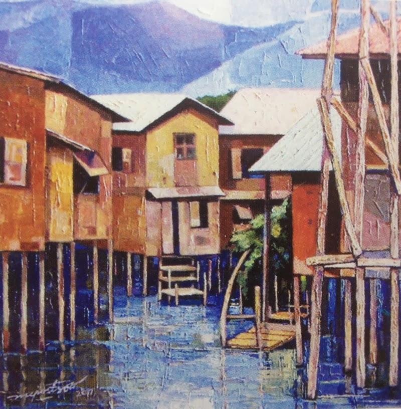 """A Corner of Inlay Lake"" by Myint Soe"