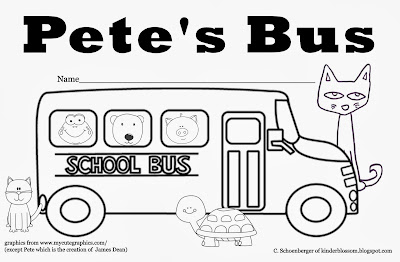 Pete the Cat Wheels On the Bus Coloring Sheet