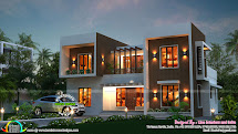 Stunning Box Type Home - Kerala Design And Floor Plans
