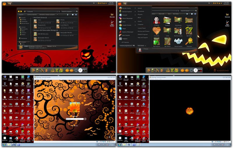 Windows 7 Cadılar Bayramı Teması