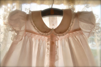 The Old Fashioned Baby Sewing Room Pink Smocked Baby Clothes