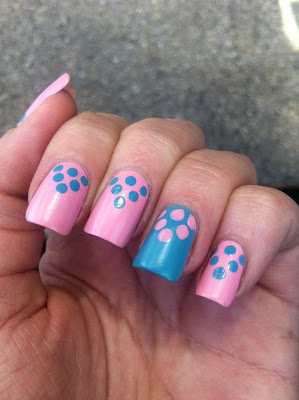 Dot Triangle Pink and Blue 2