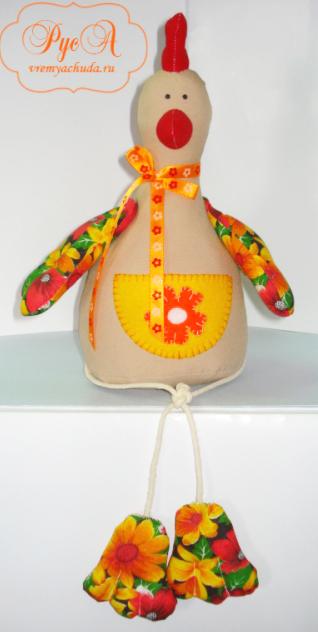 Текстильная игрушка петушок