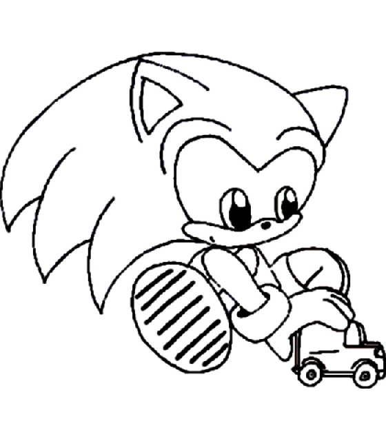 Mario Sonic Coloring Pages