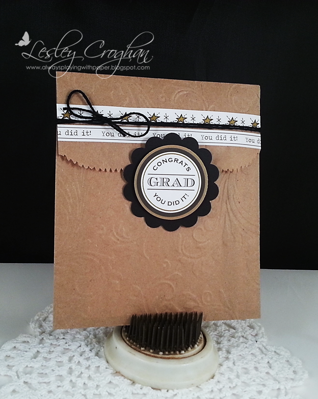 SRM Stickers Blog - Graduation Treats by Lesley - #kraft #stickers #bag #embossed #twine